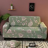 economico -colore verde stampa floreale copridivano elasticizzato onnipotente antipolvere tessuto super morbido con una custodia in omaggio