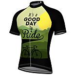 economico -21Grams Per uomo Manica corta Maglia da ciclismo Estate Elastene Verde Bicicletta Superiore Ciclismo da montagna Cicismo su strada Asciugatura rapida Traspirante Gli sport Abbigliamento / Athleisure