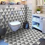 economico -creativo marmo tridimensionale grigio esagonale pavimento antiscivolo adesivo in pvc cucina bagno pavimento impermeabile autoadesivo adesivo da parete rimovibile