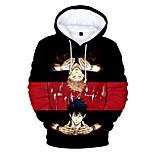 abordables -Inspiré par Jujutsu Kaisen Yuji Itadori Costume de Cosplay Sweat à capuche Térylène 3D Imprimé Sweat à capuche Pour Femme / Homme