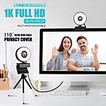 abordables -webcam mini caméra web pour ordinateur portable avec microphone anneau lumière vidéo webcam 1080p 2k diffusion en direct mise au point automatique web cam 1k version