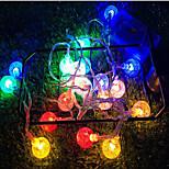 economico -stringa di luce a led 6.5m 30 led bianco caldo bianco multi colore natale capodanno all'aperto festa interna 3 v