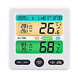 economico -TS-6211 Mini / Portatile Igrometri Misurazione della temperatura e dell'umidità, Orologio Sveglia, Display LCD retroilluminato