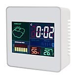economico -TS-S61 Portatile / Multi-funzione Igrometri Misurazione della temperatura e dell'umidità, Orologio Sveglia, Display LCD retroilluminato