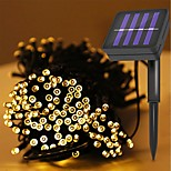 abordables -12m 100leds solaire guirlande lumineuse étanche LED fée guirlande lumineuse extérieur jardin mariage noël vacances décoration