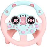 abordables -jouet de volant avec musique de lumières, voitures simulées de conduite pour les tout-petits portabl semblant jouer à adsorption de jouets volant pour enfants garçons et filles
