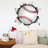 economico -La decorazione del fondo del corridoio di casa di softball di baseball della parete rotta 3d può essere rimossa gli adesivi