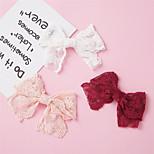 abordables -1 PCS Bébé / Nourrisson Fille Actif / Doux Usage quotidien Rouge Couleur Pleine Noeud Nylon Accessoires Cheveux Blanche / Rouge / Rose Claire Taille unique