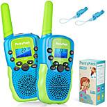 abordables -talkies-walkies pour enfants, cadeau d'anniversaire jouets pour enfants pour 3 4 5 6-12 ans garçons filles, longue portée 3 kms 22 canaux radio bidirectionnelle avec lampe de poche, jouets