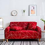 economico -Copridivano Elasticizzato Stampato Stile Semplice Fodere Elastiche Elastiche Fodere Per Divano Per Soggiorno Fodera Per Poltrona Colore Rosso
