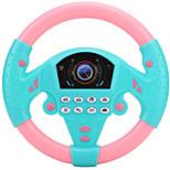 abordables -contrôleur de conduite simulé 21 x 3,5 x 21 cm copilote volant simulé jouet musical éducatif pour enfants enfants 4 5 6 ans (bleu rose)