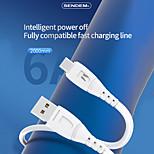 economico -SENDEM Micro USB USB C Cavi Carica rapida Trasmissione dati Caricatore del telefono 6 A 2.0m (6,5 piedi) TPE Per Samsung Xiaomi Huawei Appendini per cellulare
