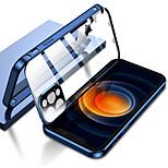economico -telefono Custodia Per Apple Integrale iPhone 12 Pro Max 11 SE 2020 X XR XS Max Doppia setola Trasparente Protezione per obiettivo della fotocamera Transparente Tinta unita Vetro temperato Metallo