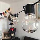 abordables -LED guirlande lumineuse 3.5 m g50 rétro ampoule solaire extérieur étanche led guirlande lumineuse noël mariage fleur rue jardin décoration chaîne vacances éclairage