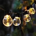 economico -luce solare esterna della stringa luce solare della stringa principale lampada impermeabile esterna della decorazione di cerimonia nuziale del giardino 5m 20 led ghirlanda impermeabile ip65 luce di