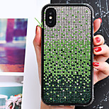 economico -telefono Custodia Per Apple Per retro iPhone 12 Pro Max 11 SE 2020 X XR XS Max 8 7 6 Resistente agli urti Con diamantini Colore graduale e sfumato TPU