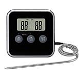 economico -TS-BN56 Portatile / Inteligente termometro del BBQ 0 con allarme di allarme, Display LCD retroilluminato, Misurazione della temperatura digitale