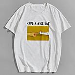 abordables -Homme Unisexe Tee T-shirt Estampage à chaud Chat Imprimés Photos mains Grandes Tailles Imprimé Manches Courtes Décontracté Hauts 100% Coton basique Designer Grand et grand Blanche