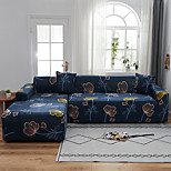 economico -fodere antipolvere onnipotenti con stampa ginkgo blu scuro blu scuro elasticizzato a forma di l proteggi-mobili per divano in tessuto super morbido con una custodia boster gratuita