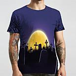 abordables -Homme Unisexe Tee T-shirt 3D effet Imprimés Photos Croix Grandes Tailles Imprimé Manches Courtes Décontracté Hauts basique Designer Grand et grand Noir