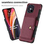 economico -telefono Custodia Per Apple Per retro Porta carte di credito iPhone 12 Pro Max 11 SE 2020 X XR XS Max 8 7 A portafoglio Porta-carte di credito Resistente agli urti Tinta unita pelle sintetica TPU