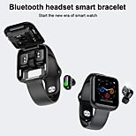 economico -Smartwatch x5 per telefoni Apple / Android, con cuffie wireless, tracker sportivo, supporto per misurazione della frequenza cardiaca / pressione sanguigna