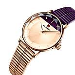 economico -le signore di stile di ins guardano l'orologio del quarzo di vetro del fiore del lotto di tre pin impermeabile