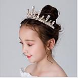abordables -1 pièces enfants / bambin filles couronne coiffe princesse fille couronne cristal bandeau doré anniversaire congelé accessoire de cheveux