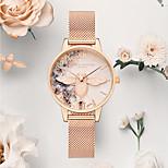 economico -genuino britannico oliviaburton femminile orologio ob orologio vibrato piccola ape rosa cristallo per regalo fidanzata