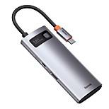 economico -BASEUS Alta velocità Con lettore di schede (s) OTG Supporta la funzione di consegna dell'alimentazione USB 3.0 USB C a HDMI 2.0 USB 2.0 USB 3.0 USB 3.0 USB C Hub USB 5 Porti Per Windows, PC, laptop