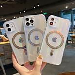economico -telefono Custodia Per Apple Per retro Custodia ad adsorbimento magnetico iPhone 12 Pro Max 11 SE 2020 X XR XS Max 8 7 6 Resistente agli urti A prova di sporco Trasparente Transparente Tinta unita TPU
