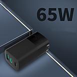 economico -65 W Potenza di uscita USB C Caricatore veloce Caricabatterie portatile Portatile Multiuscita Ricarica veloce RoHs CE CCC Per Cellulari iMac