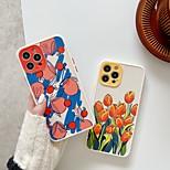 economico -telefono Custodia Per Apple Per retro iPhone 12 Pro Max 11 SE 2020 X XR XS Max 8 7 Resistente agli urti A prova di sporco Fantasia / disegno Fiore decorativo TPU
