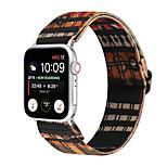 economico -Cinturino intelligente per Apple  iWatch 1 pcs Bracciale stampato Tela Sostituzione Custodia con cinturino a strappo per Apple Watch Serie SE / 6/5/4/3/2/1