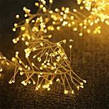 economico -luci stringa led filo di rame led luci stringa petardo 2.5m 100leds 5m 200leds petardo a batteria luci fiabesche per albero di natale festa di nozze decorazione della casa per le vacanze