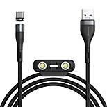 economico -BASEUS Micro USB Lightning USB C Cavi Intrecciato 1 a 3 Carica rapida 5 A 1.0m (3 piedi) Nylon TPE Lega di alluminio Per Macbook iPad Samsung Appendini per cellulare