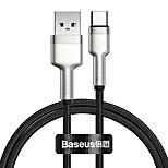 economico -BASEUS USB C Cavi Alta velocità Carica rapida 5 A 2.0m (6,5 piedi) 1.0m (3 piedi) TPE Per Samsung Xiaomi Huawei Appendini per cellulare