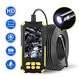 economico -Telecamera per endoscopio a doppia lente 1080P HD 4.5 Schermo IPS 9 luci a LED IP68 Impermeabile Snake Camera Strumenti idraulici per fognature Duro 5m