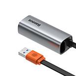 economico -BASEUS USB 3.0 a RJ45 Hub USB 1 Porti Per Windows, PC, laptop