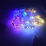 economico -LED stringa luce pulsante batteria filo di rame fata luci fisse su 2 m 3 m 4 m 5 m bianco caldo per la decorazione
