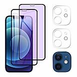 """economico -aimok [2 + 2 pezzi] vetro blindato anti-luce blu compatibile con iphone 12 6.1 """"+ vetro corazzato per fotocamera, [durezza 9h] [protezione per gli occhi] [protezione per schermo trasparente hd] blocca"""