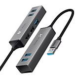 economico -BASEUS Alta velocità CAHUB-C0G USB 3.0 a USB 2.0 USB 3.0 Hub USB 5 Porti Per Windows, PC, laptop