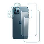 economico -vetro temperato posteriore per iphone 12 pro pellicola protettiva posteriore posteriore da 6,1 pollici vetro temperato + protezione dello schermo della fotocamera in vetro temperato [durezza 9 h]