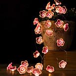 economico -led string light 2m led peach blossom fata string luci a batteria 20 led natale esterno a forma di fiore giardino matrimonio decorativo lampada a corda
