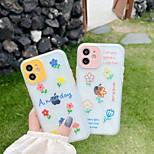 economico -telefono Custodia Per Apple Per retro iPhone 12 Pro Max 11 SE 2020 X XR XS Max 8 7 Resistente agli urti A prova di sporco Transparente Fiore decorativo TPU