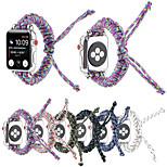 economico -Cinturino intelligente per Apple  iWatch 1 pcs Braccialetto di tessitura Nylon Sostituzione Custodia con cinturino a strappo per Apple Watch Serie SE / 6/5/4/3/2/1