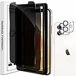 economico -Newzerol 2 pezzi di protezione per lo schermo + 2 pezzi di protezione per la fotocamera compatibile per iphone 12 mini (5,4 pollici) [con cornice di installazione] [anti spia] protezione per lo