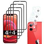 economico -telefono Proteggi Schermo Per Apple iPhone 12 iPhone 11 iPhone 12 Pro Max iPhone 11 Pro iPhone 11 Pro Max Vetro temperato 8 pezzi Alta definizione (HD) Anti-graffi Proteggi lente frontale e fotocamera