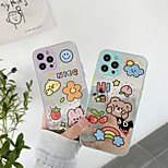 economico -telefono Custodia Per Apple Per retro iPhone 12 Pro Max 11 SE 2020 X XR XS Max 8 7 Resistente agli urti A prova di sporco Cartoni animati Fiore decorativo TPU
