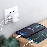 economico -20 W Potenza di uscita USB USB C Caricatore PD Caricatore veloce Caricatore del telefono Caricabatterie fisso Caricabatterie portatile Caricabatteria di Muro QC 3.0 Ricarica veloce Per Xiaomi